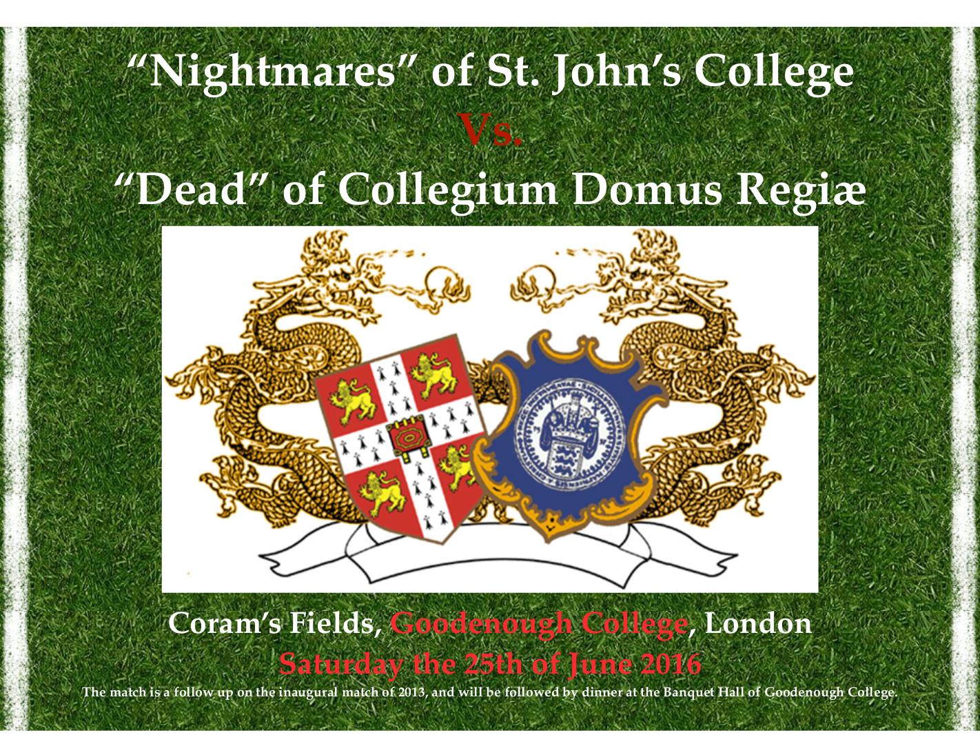 St. John's College vs. Collegium Domus Regiæ25. juni 2016